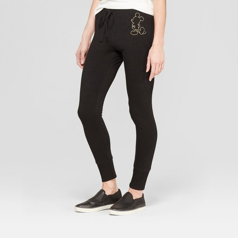 Womens Disney Mickey Mouse Jogger Pants Juniors Black Target