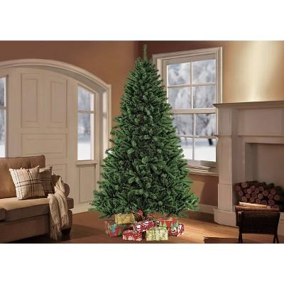 7.5ft Unlit Artificial Christmas Tree Full Newcastle Fir