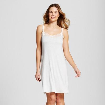 Maternity Nursing Nightgown - Gilligan & O'Malley™ Light Gray Heather XXL