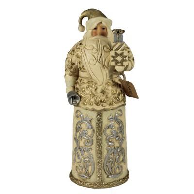 "Jim Shore 10.5"" Smile & Season Sparkles Holiday Lustre Santa  -  Decorative Figurines"