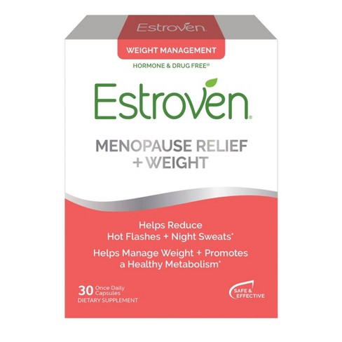 Estroven Menopause Relief with Weight Management Dietary Supplement Capsules - 30ct - image 1 of 4