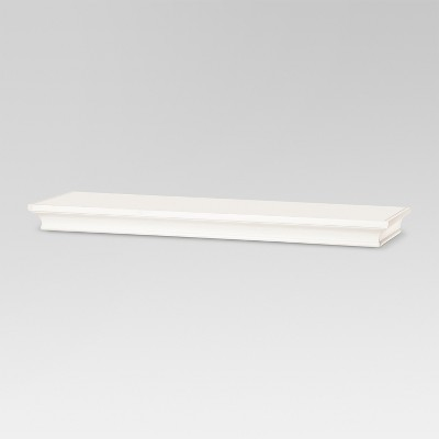 "24"" x 7.7"" Traditional Wall Shelf White - Threshold™"