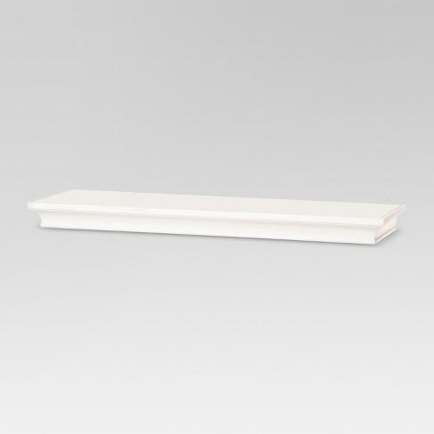 "24"" x 7.7"" Traditional Wall Shelf White - Threshold™ - image 1 of 3"