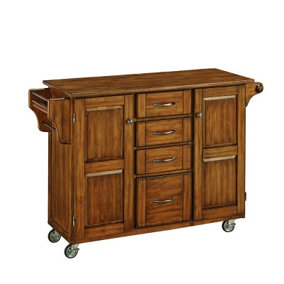 Kitchen Carts And Islands with Wood Top Brown - Home Styles