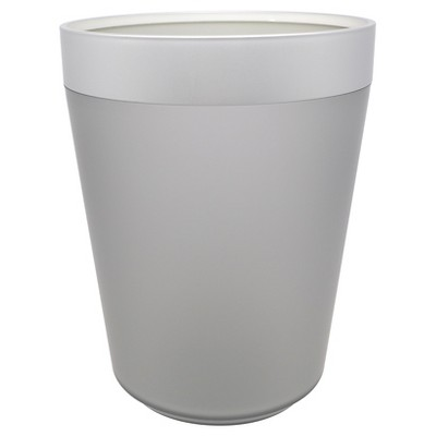 Wastebasket Gunmetal - Room Essentials™