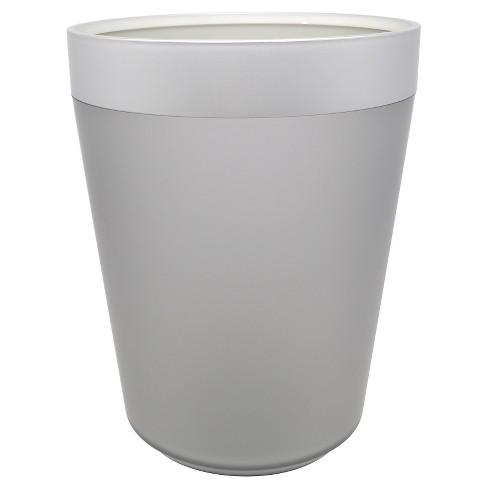 Wastebasket Gunmetal - Room Essentials™ - image 1 of 1