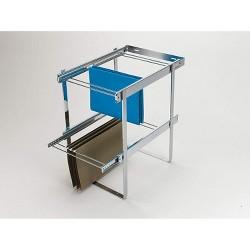 Rev-A-Shelf RAS-FD Series 2 Tier Standard Height Base Cabinet Organizer, Chrome