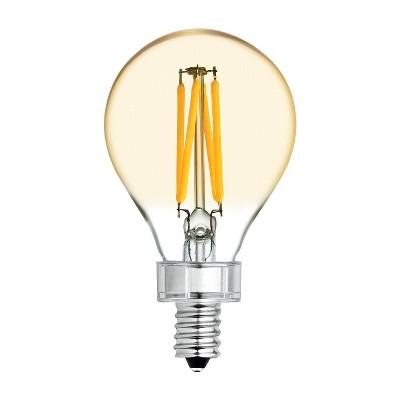 General Electric 2pk 60W VintaA15 Ceiling Fan CAC base Filament Amber LED Light Bulb White