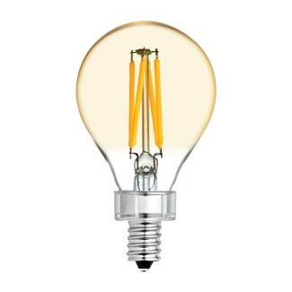 General Electric 2pk 60W VintaA15 Ceiling Fan CAC base Filament Amber LED Light Bulb White