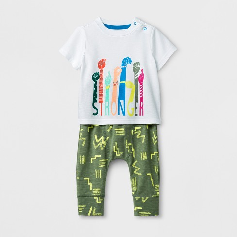 a700176df Baby Boys  2pc Short Sleeve T-Shirt And Jogger Set - Cat   Jack ...