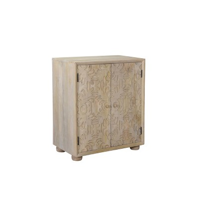 Heath 2 Door Carved Cabinet Natural - Powell Company