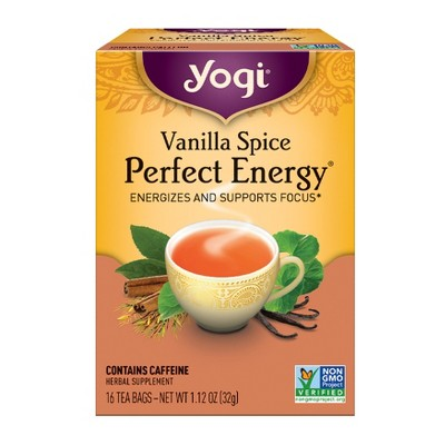 Yogi Tea - Vanilla Spice Perfect Energy Tea - 16ct