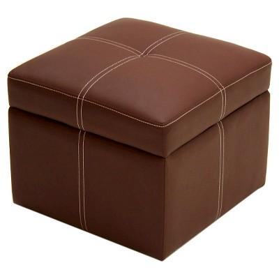 Delaney Small Storage Ottoman   Brown   Dorel Home Products