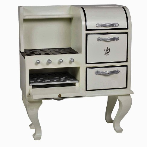 The Queen's Treasures® 18 Inch Doll Kitchen Furniture, Vintage 1930's Antique Style Wooden Stove with Oven - image 1 of 9