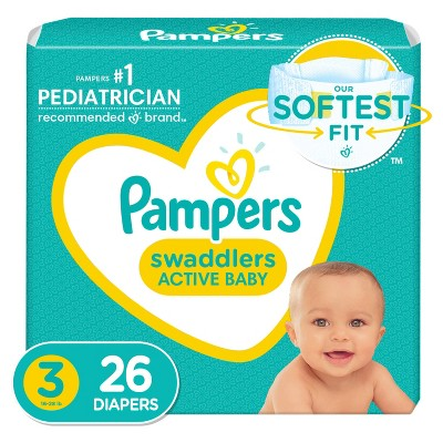 Pampers Swaddlers Disposable Diapers Jumbo Pack - Size 3 (26ct)