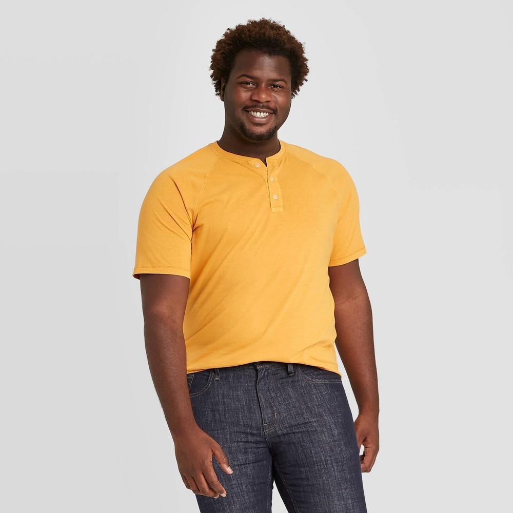 Promos Men's Big & Tall Standard Fit Short Sleeve Henley T-Shirt - Goodfellow & Co™
