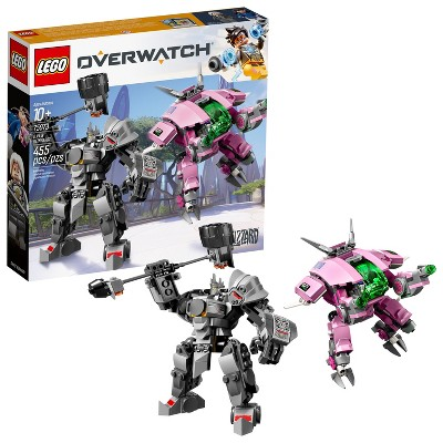 LEGO Overwatch D.Va and Reinhardt Mech Building Kit with Overwatch Character Minifigures 75973