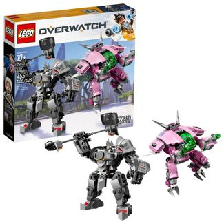 LEGO Overwatch D.Va and Reinhardt 75973 Mech Building Kit with Overwatch Character Minifigures
