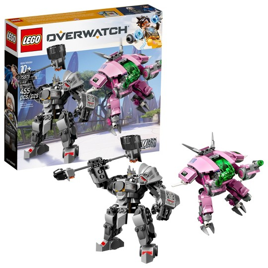 LEGO Overwatch D.Va and Reinhardt 75973 Mech Building Kit with Overwatch Character Minifigures image number null