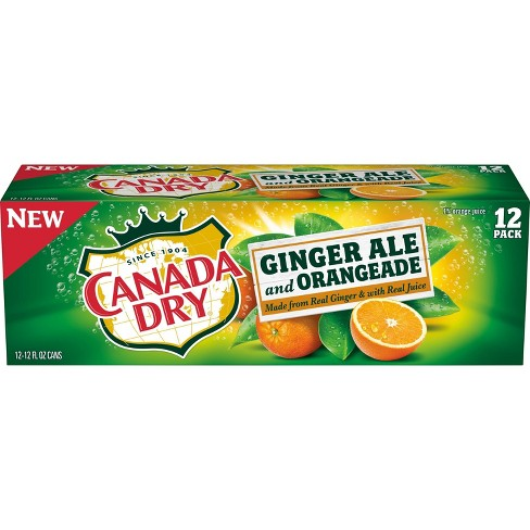 Canada Dry Ginger Ale and Orangeade - 12pk/12 fl oz Cans - image 1 of 3