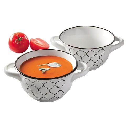Mathison Round Soup Bowl Set White 27oz 2pk - Gibson - image 1 of 1