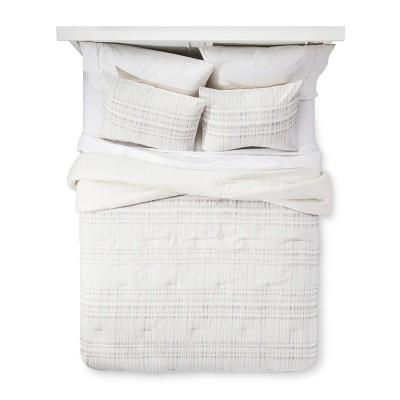 Beige Woven Stripe Comforter Set (Full/Queen)- Xhilaration™