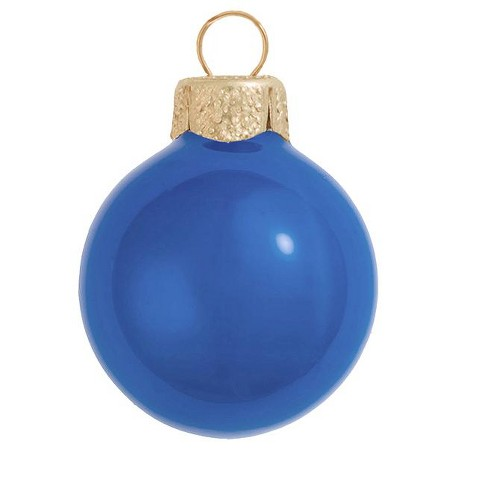 """Northlight 6ct Pearl Glass Ball Christmas Ornament Set 4"""" - Delft Blue - image 1 of 1"""