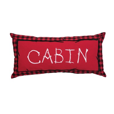 """C&F Home 12"""" x 24"""" Buffalo Check Cabin Embroidered Pillow"""