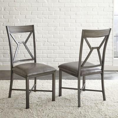 Set of 2 Alamo Side Chair Gray - Steve Silver