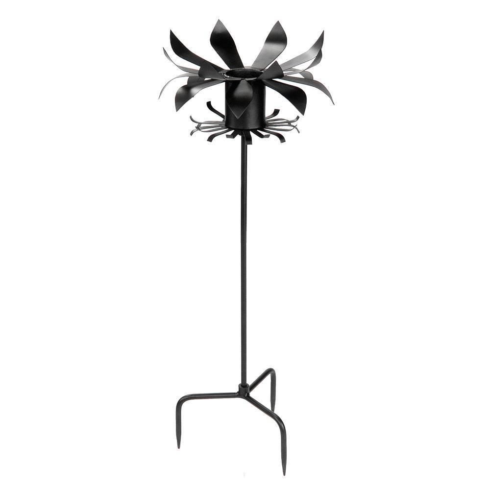 43 34 Iron Petals Gazing Globe Ball Stand Black Powder Coat Finish Achla Designs