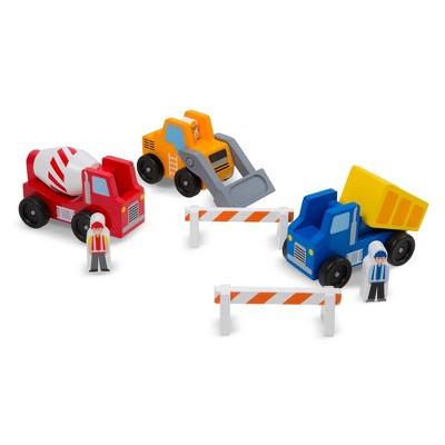 Melissa & Doug Construction Vehicle Wooden Play Set (8pc)