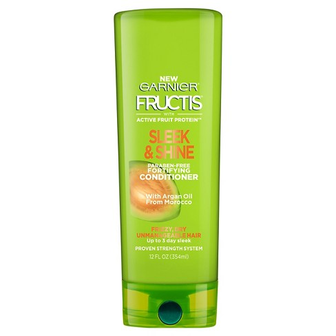 Garnier Fructis with Active Fruit Protein Sleek & Shine Fortifying Conditioner with Argan Oil from Morocco - 12 fl oz - image 1 of 4