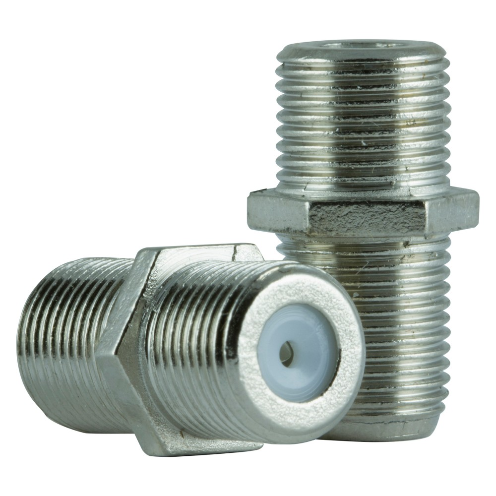 Philips Rg6 Coax Extension Adapters 2pk Gray