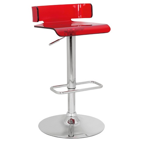 Counter And Bar Stools Acme Furniture Red Chrome - image 1 of 1