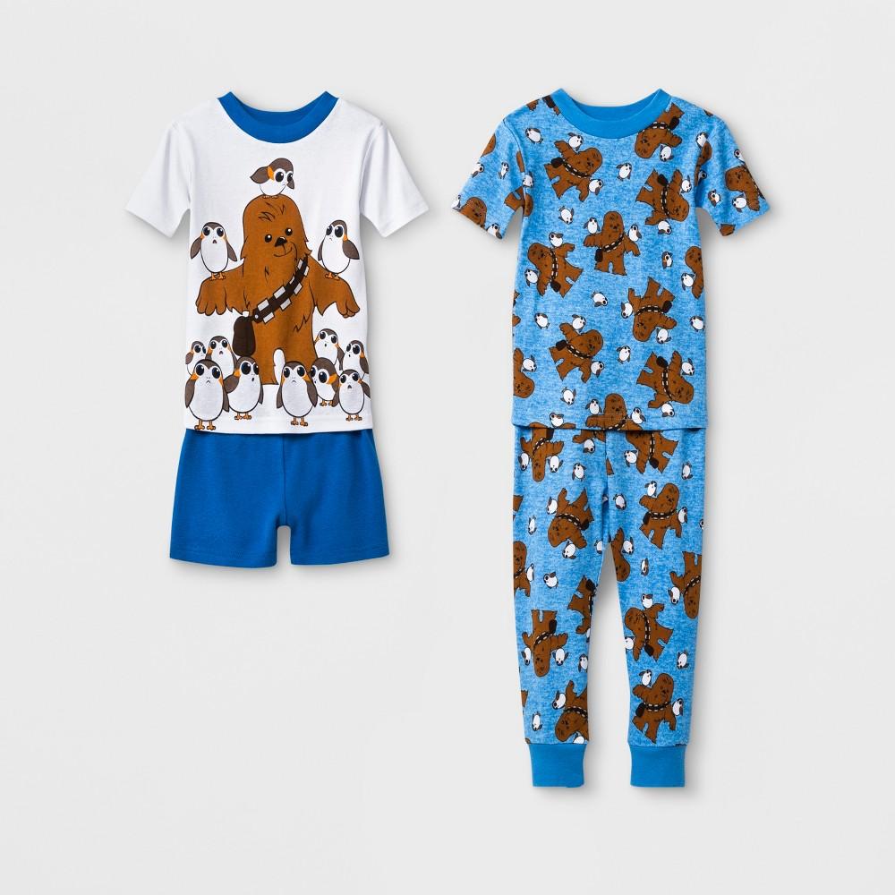 Toddler Boys' Star Wars 4pc Pajama Set - Blue 4T