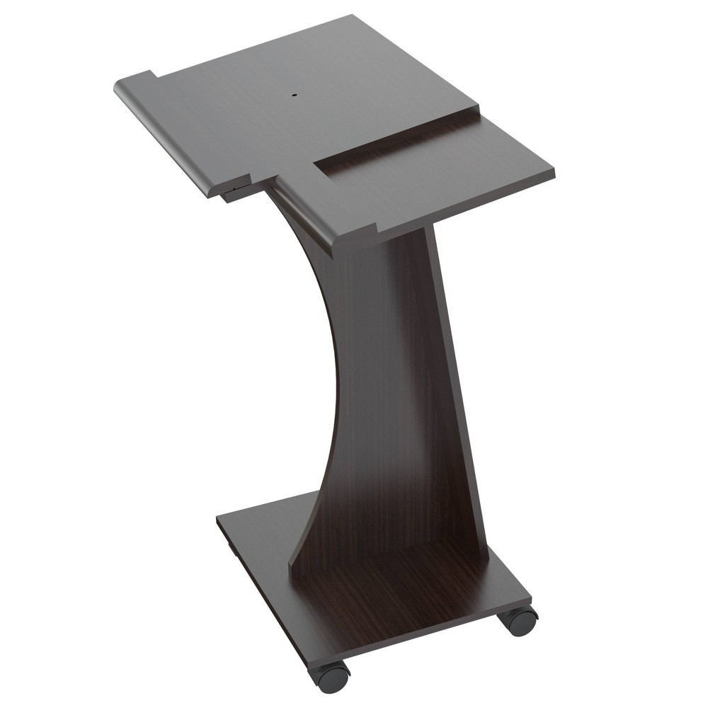 Image of Rolling Laptop Cart Espresso - Inval, Brown
