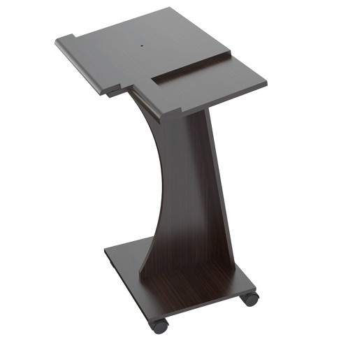 Rolling Laptop Cart Espresso - Inval - image 1 of 4