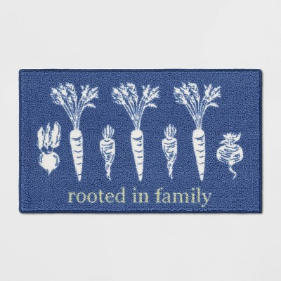 34 x20  Rooted Kitchen Rug Blue - Threshold™