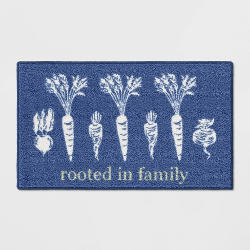 Rooted in Family Kitchen Rug Blue - Threshold™ - image 1 of 4