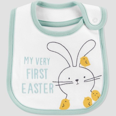 Baby 'My First Easter' Bib - Just One You® made by carter's White