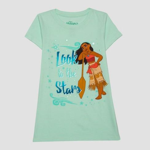 48e2272b Girls' Moana T-Shirt - Green : Target
