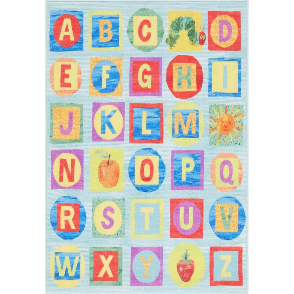 "Image of ""Eric Carle Alphabet Blocks Area Rug (60""""x84"""") Blue - Home Dynamix"""