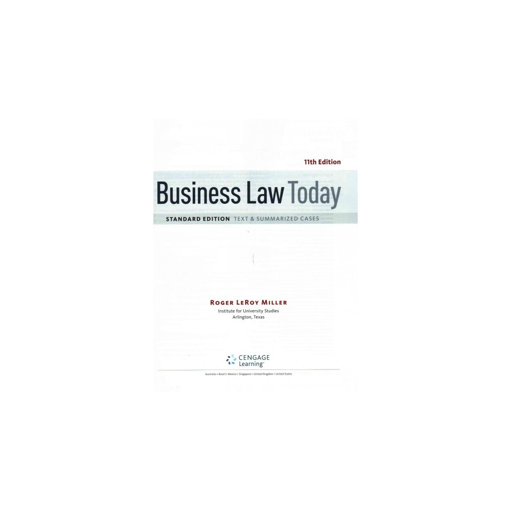Business Law Today, Standard + Lms Integ (Mixed media product)