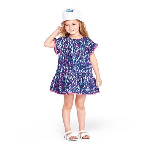 2c08e437 Toddler Girls' Short Sleeve School of Whales Crewneck Dress - Blue/Pink - vineyard  vines® for Target