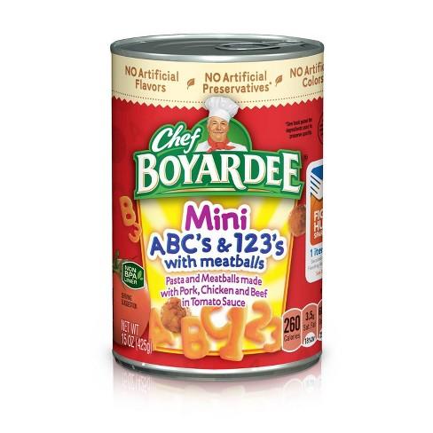 Chef Boyardee Mini ABC's & 123's with Meatballs 15 oz - image 1 of 3