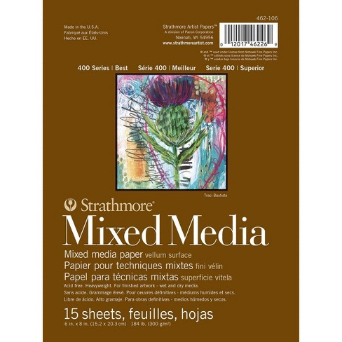 Strathmore 400 Series Mixed Media Pad, 6 x 8 Inches, 184 lb, 15 Sheets - image 1 of 1