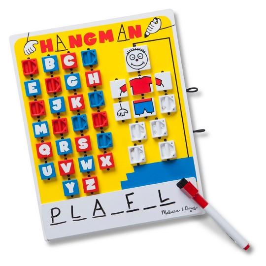 Melissa & Doug Flip to Win Travel Hangman Game - White Board, Dry-Erase Marker image number null