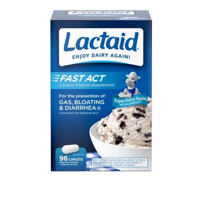 Lactaid Fast Act Caplet - 96ct