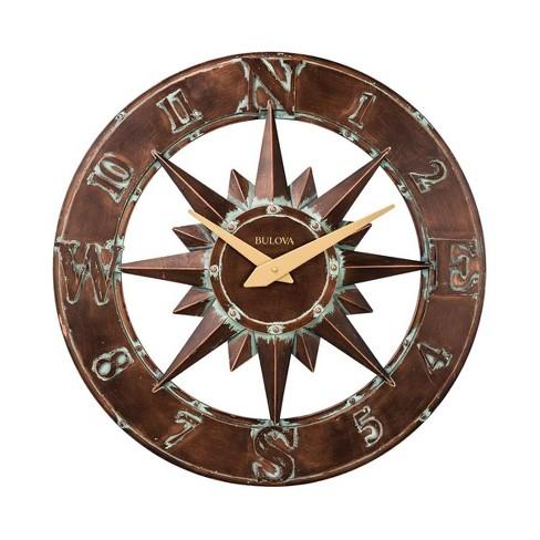 Bulvoa Clocks C4873 Nor'easter Indoor or Outdoor 27 Inch Diameter Quartz Decorative Wall Clock, Bronze - image 1 of 2