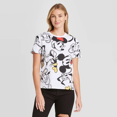 Women's Disney Mickey and Friends Short Sleeve Graphic T-Shirt - White